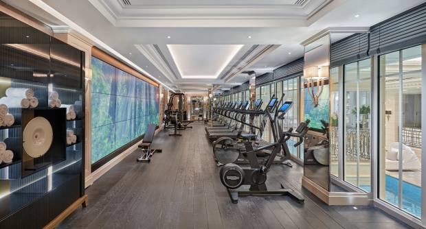There is bespoke-designed equipment by Technogym in the fitness centre