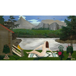 Lady of the Lake, 1936, by the self-taught artist Horace Pippin. One of his pieces sold for over $3.2m at Sotheby's in 2018
