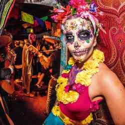 Immersive Cult's Day of the Dead Halloween party at Loulou's in Mayfair