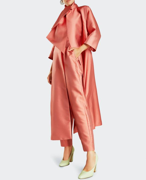 Merchant Archive duchesse satin evening coat, £1,385