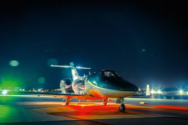 The HondaJet handles like a sports car and looks just as dashing