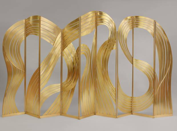Taher Chemirik for Galerie BSL brass Calligraphy screen, about £116,869