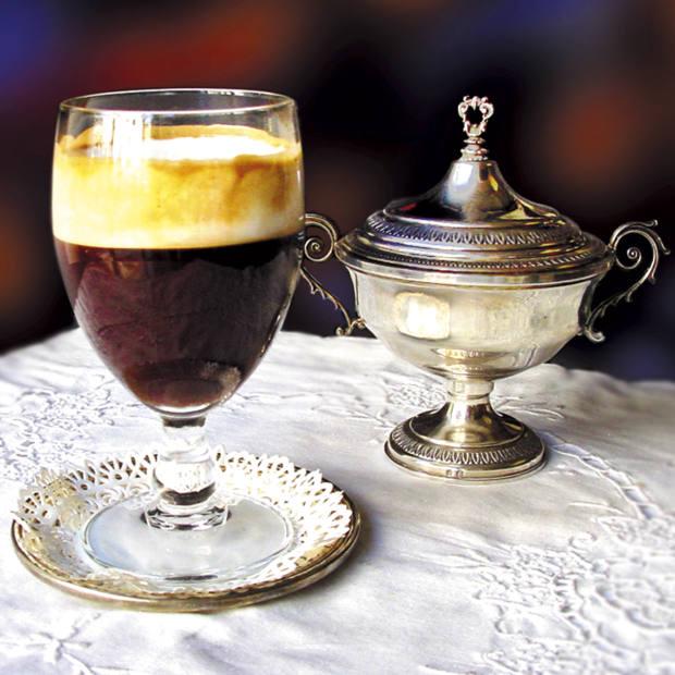 Al Bicerin's famous chocolate drink.