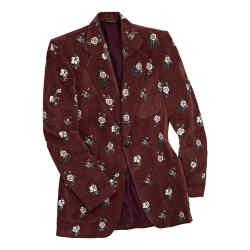 Maroon velvet dinner jacket (£3,835)