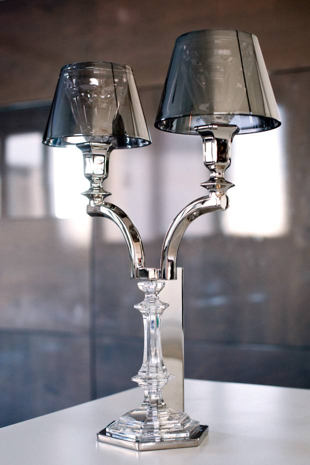 Messika's Philippe Starck lamp from Baccarat