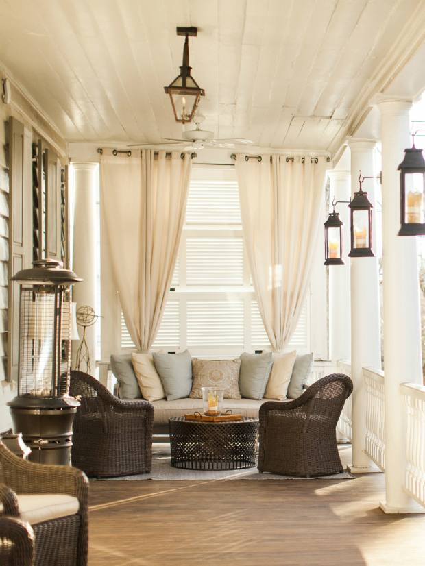The veranda of Charleston's Zero George hotel, created from neighbouring colonial houses