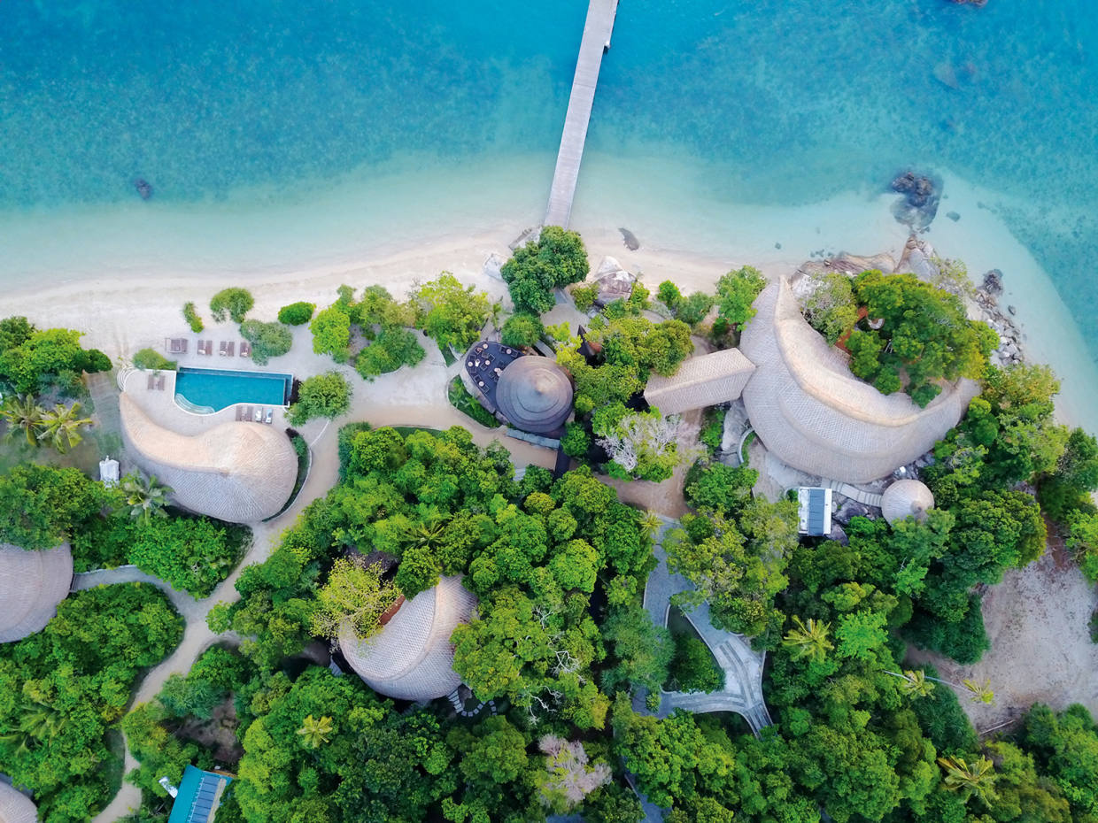 Indonesia's Cempedak Private Island was designed to work in harmony with its surroundings