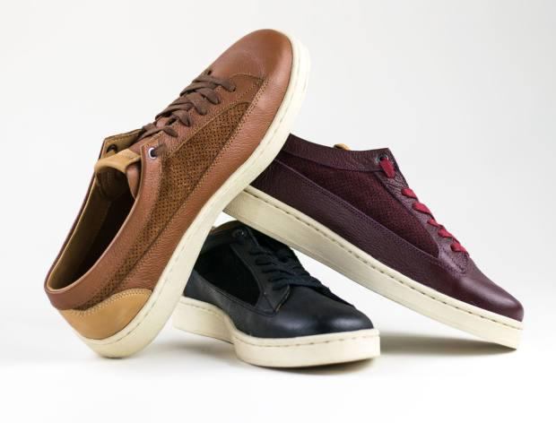 Ethiopia Enzi leather/suede sneakers, $220