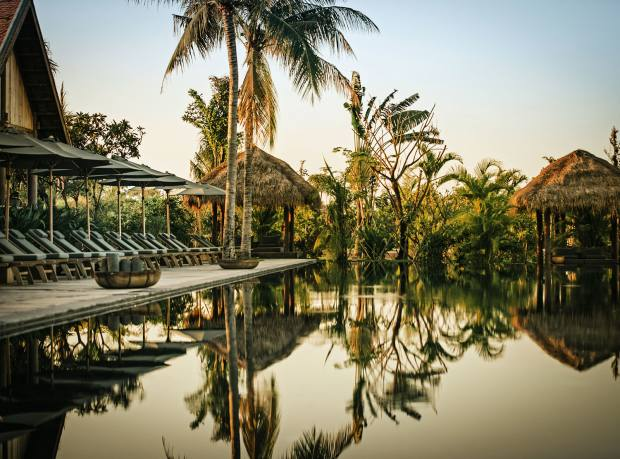 The pool at Phum Baitang resort