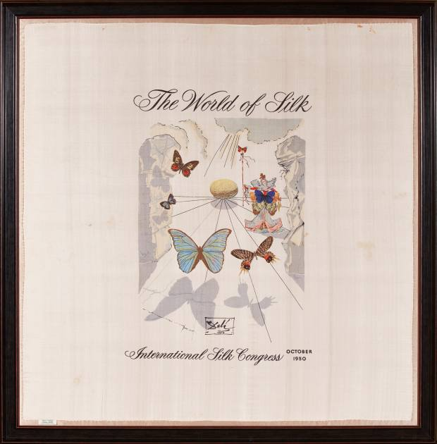 Silk The World of Silk scarf by Salvador Dalí for the International Silk Congress, 1950, £600-£800 (with programme)