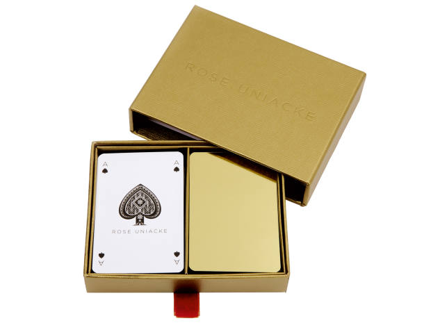 Rose Uniacke playing cards,£99 for a twin pack