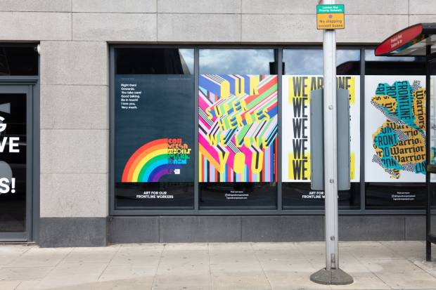"Posters for the People's aim is to ""bring joy, art and colour to the streets, so that people can spread positivity through art"""
