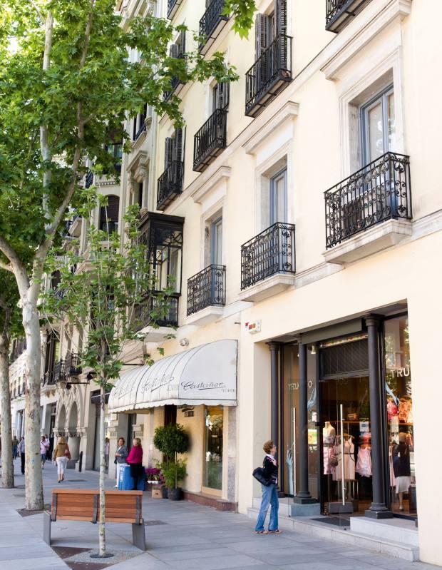 Shops on the Calle de Serrano