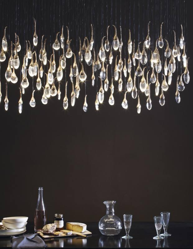 Ochre bronze and glass Seed Cloud chandelier, £29,400