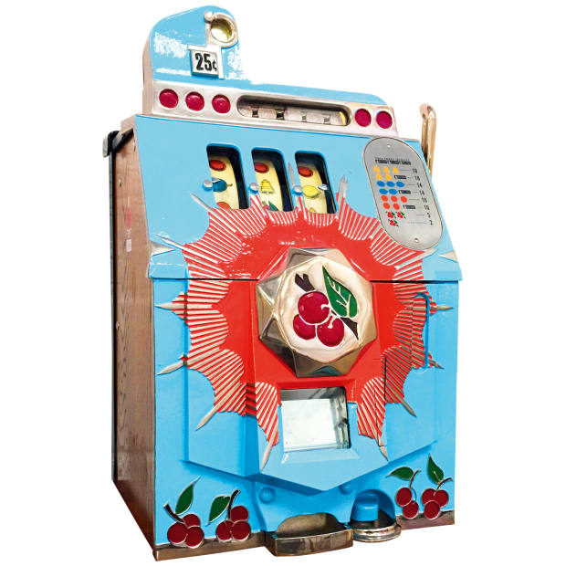 c1937 Mills Cherry Burst one-armed bandit, £2,750 from the Games Room Company