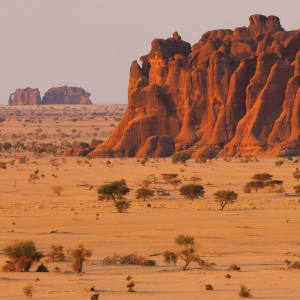 The Ennedi Massif is a Unesco World Heritage site with abundant rock art.
