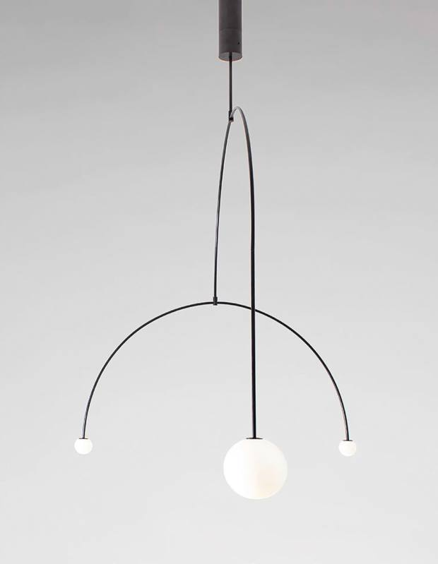 Michael Anastassiades brass and mouthblown-glass Mobile Chandelier 9, £16,200
