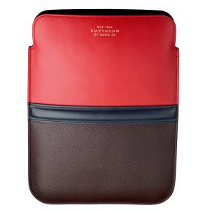 Smythson Panama iPad sleeve in leather, £225. Also in other colours