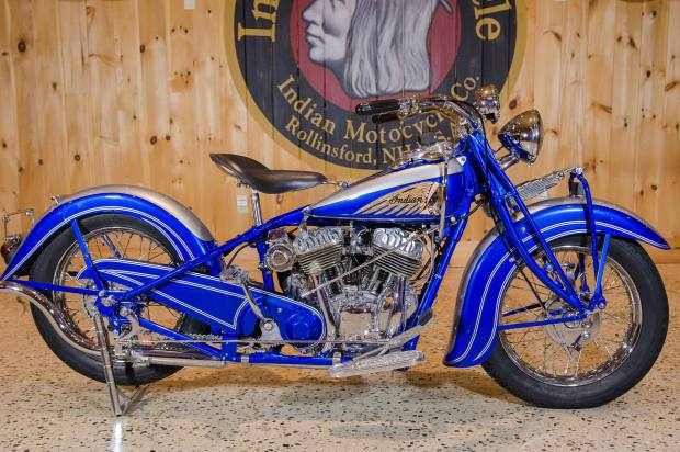 1939 Indian, produced to celebrate that year's World's Fair in New York. Estimate $40,000-$70,000