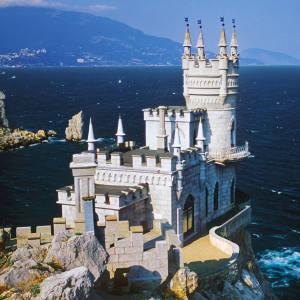 Swallow's Nest Castle on Cape Ai-Todor, near Yalta, Ukraine.