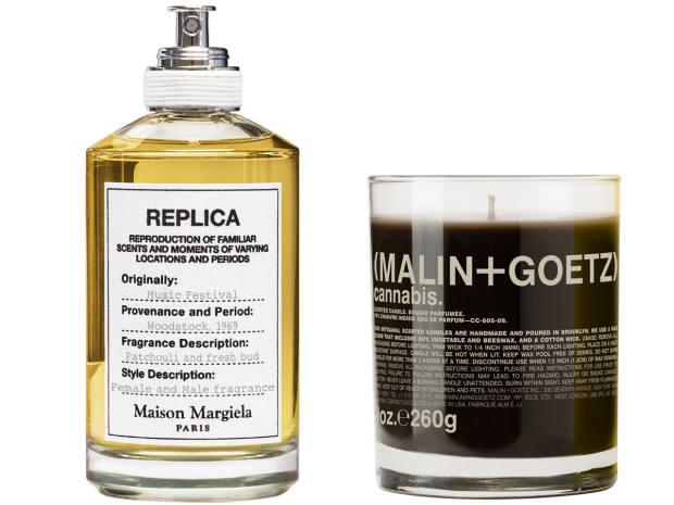 Maison Margiela Replica perfume, £96, johnlewis.com. Malin + Goetz candle, £42