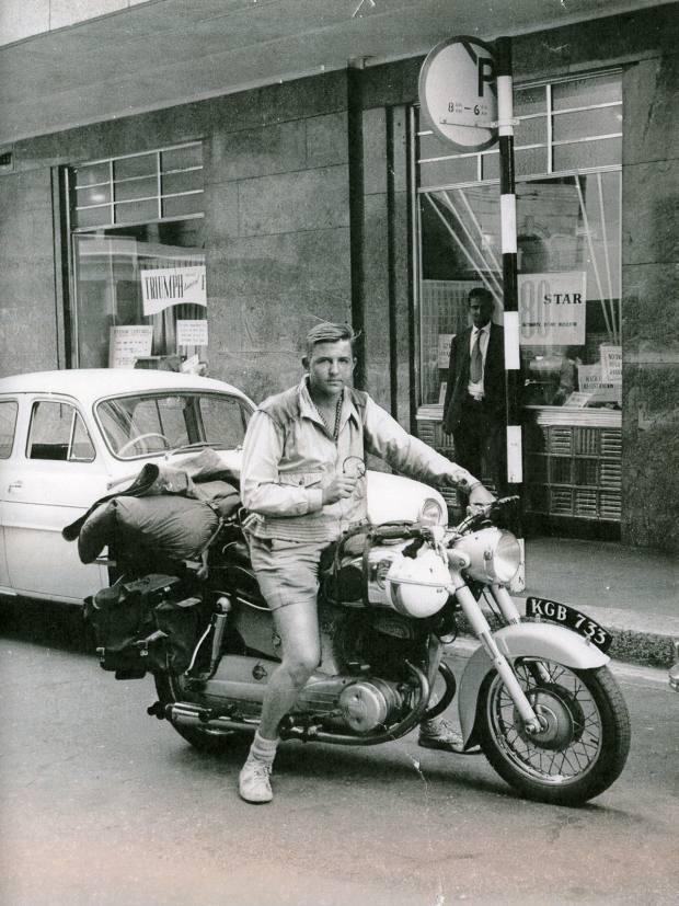 Geoffrey Kent on Nairobi's Delamere Avenue, 1958