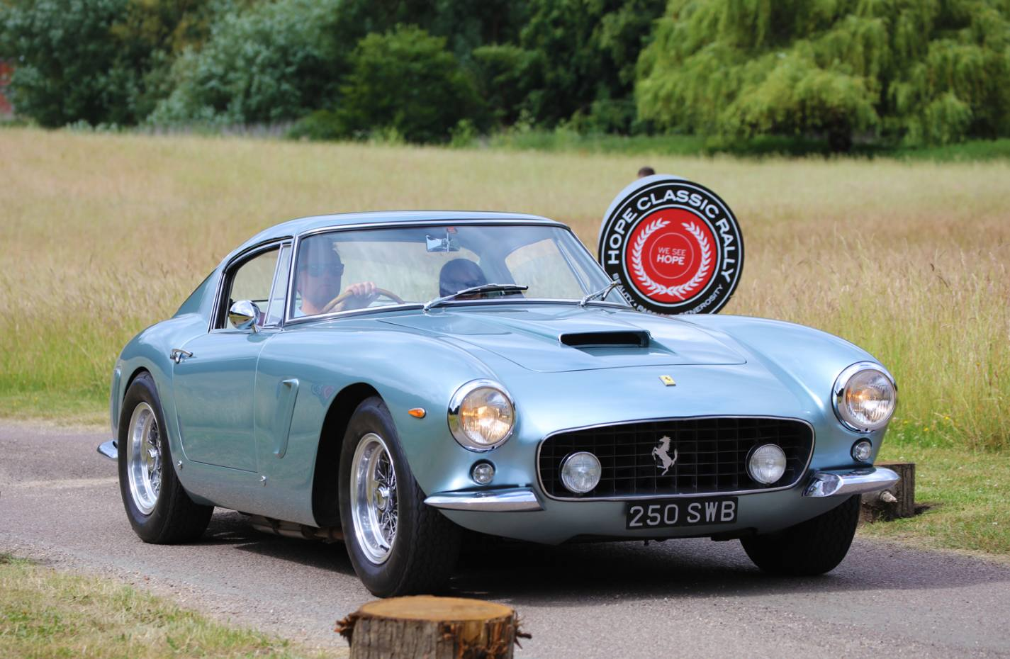 A Ferrari 250 SWB is one of the valuable classics that rally entrants may find themselves driving