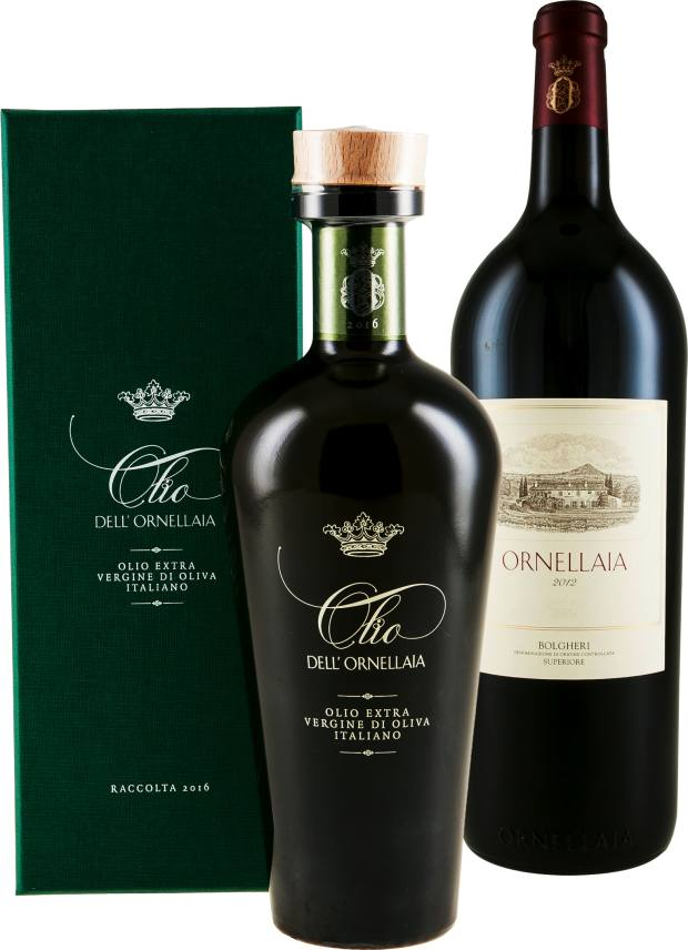 You could give a selection of wine, grappa and olive oil from one of the Super Tuscan estates like Tenuta San Guido or Ornellaia