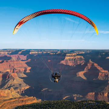 Paramotor owner Scott Ritchie flies Parajet's Zenith, from £3,299, over the Grand Canyon National Park in Arizona