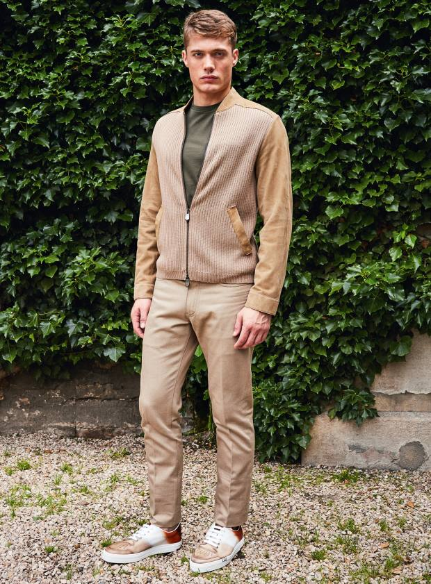 Berluti suede and cotton/cashmere cardigan, £2,860