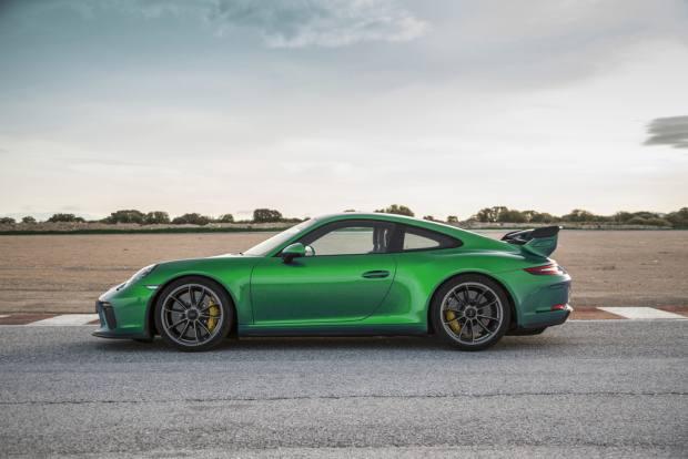 A Porsche 911 GT3 in Viper Green