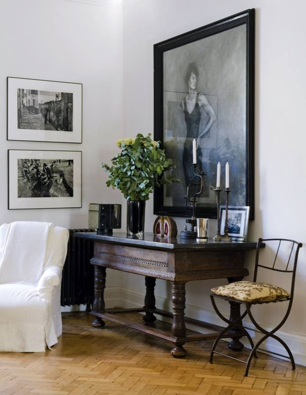 Rose Uniacke has furnished this house with antique pieces from Hilary Batstone.