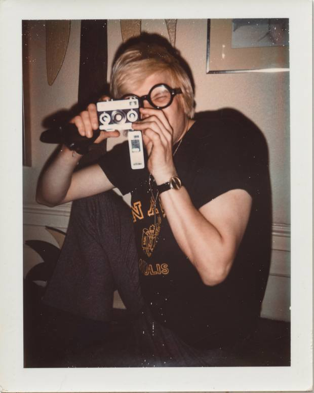 Andy Warhol image of David Hockney (c1972), Polaroid, 10.7cm x 8.5cm
