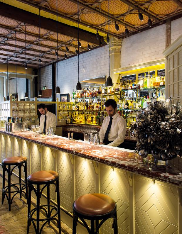 The bar in the restaurant