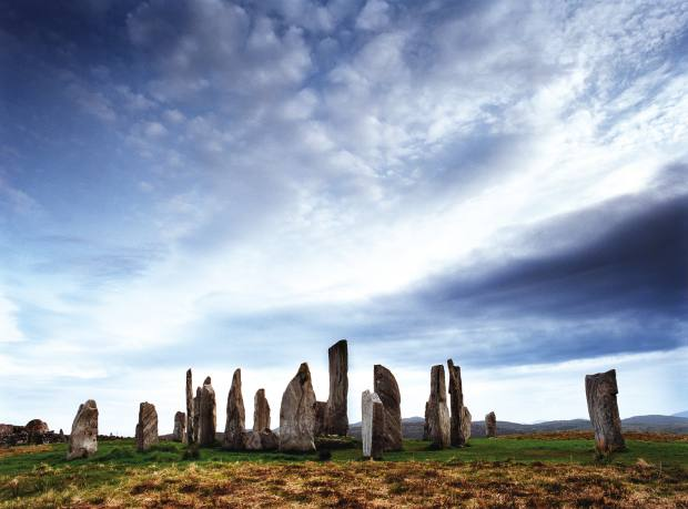 The Neolithic stone circle of Callanish in the Outer Hebrides.