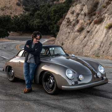 John Oates with his custom 1960 Porsche 356 Outlaw