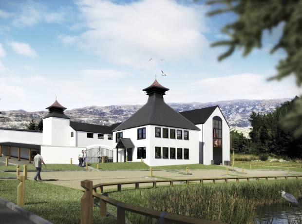 An artist's impression of the new Ardnamurchan Distillery in Argyll