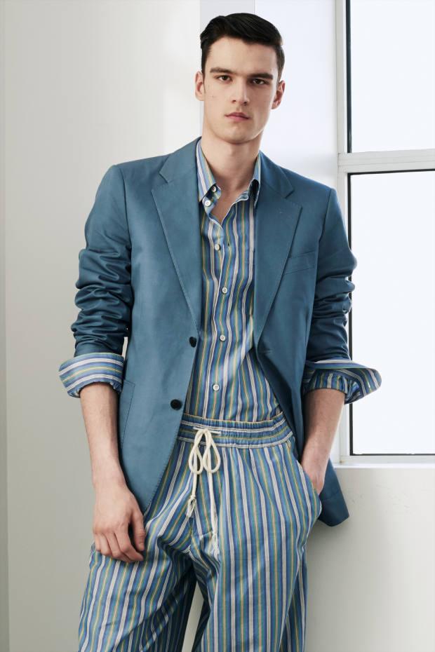Cotton shirt, £210, matching shorts, £230, andcotton blazer, £920