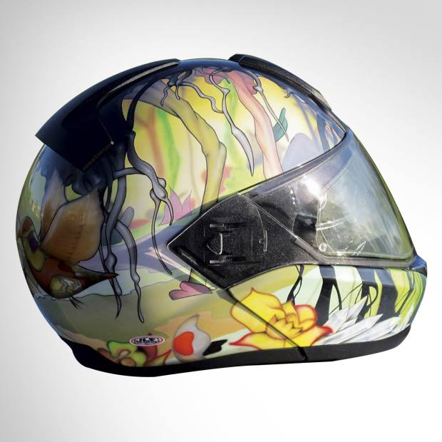 A helmet created for a director of the Royal College of Art by JLF Designs, about £1,320