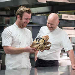 Jack Stein (left) and The Goring's executive chef Shay Cooper