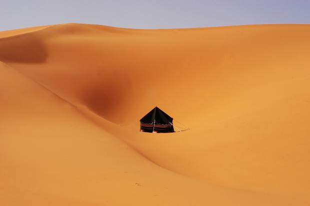 A Bedouin tent in the desert
