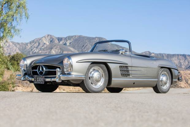 Bonhams is also selling this meticulously restored 1957 Mercedes-Benz 300SL, which is expected to realise $1.4m-$1.7m