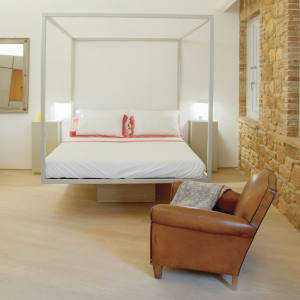 One of the 12 rooms at Bandita Townhouse in Pienza, Tuscany