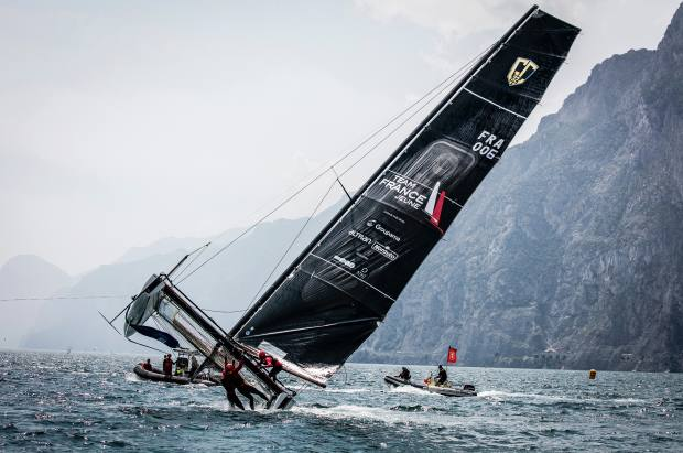 The 10m GC32 inshore catamaran, €406,800, is used in the Extreme Sailing Series