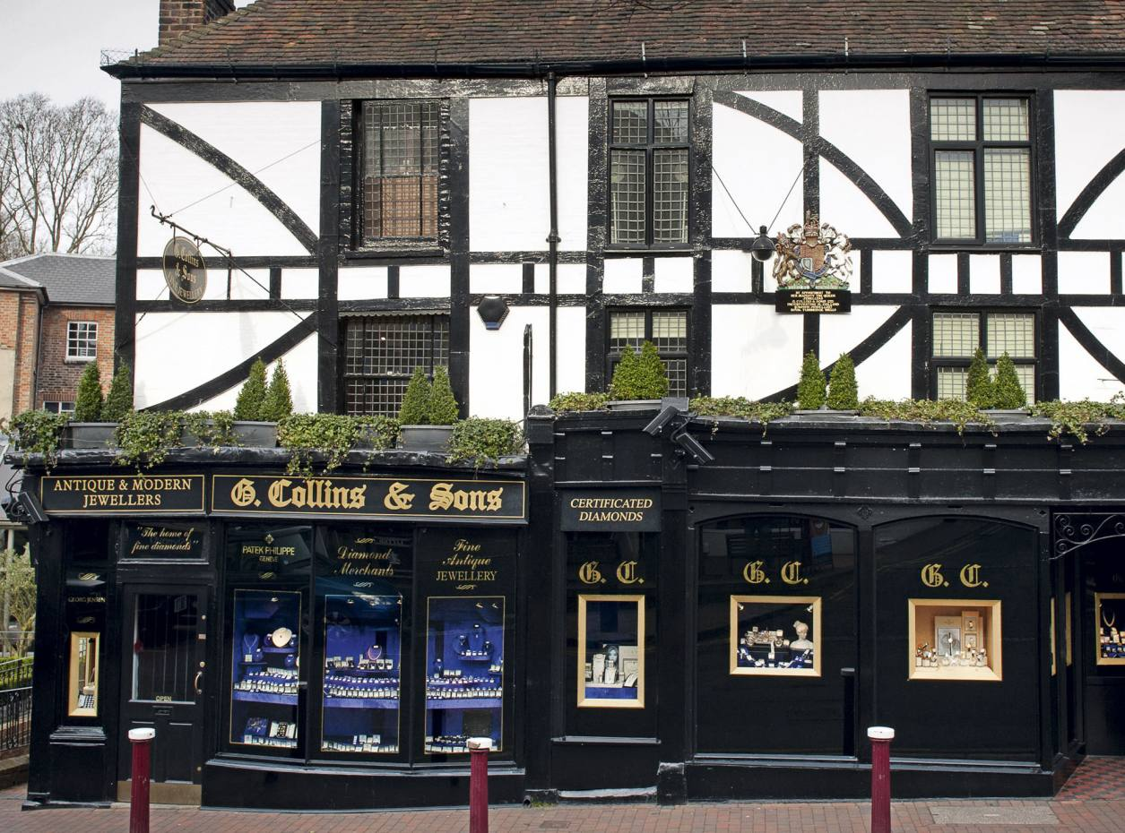 G Collins & Sons' unassuming shop belies the riches inside.