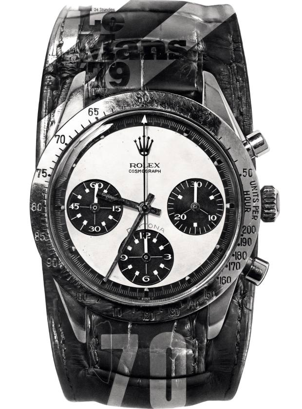 Kraulis's drawing of Paul Newman's Rolex Daytona