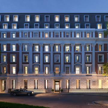 No 1 Grosvenor Square in Mayfair (once the site of the US Embassy) and its library – it has been converted into 45 residences, from £8m to £40m