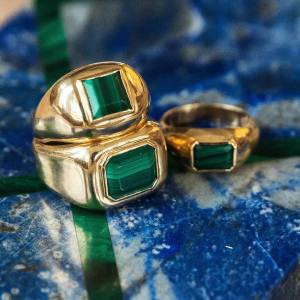 Gabriela Hearst gold and malachite ring, $5,300