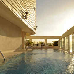 The pool at the Atlantic Penthouse