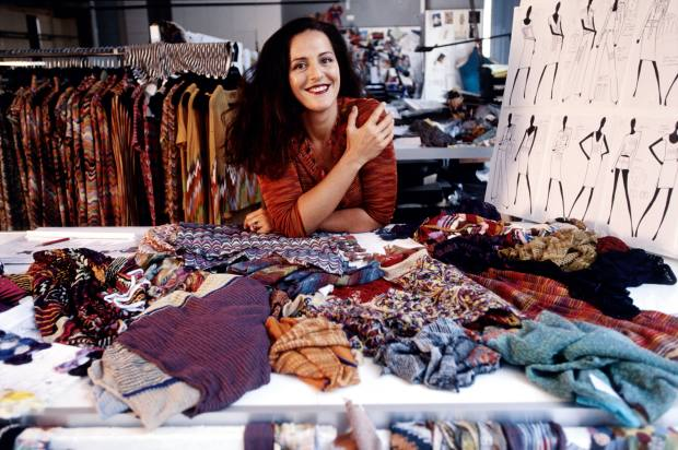 Angela in 1997, the year she took over Missoni from her parents